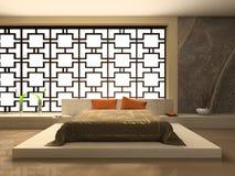 lyxigt sovrum stock illustrationer