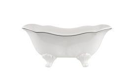 Lyxigt tappningbadkar som isoleras på vit royaltyfria foton