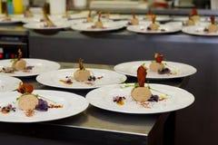 Lyxmatrestaurangkök Fotografering för Bildbyråer