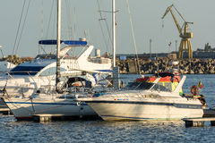Lyxyachter och fartyg Royaltyfria Foton