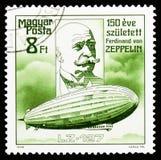 LZ-127 Graf Zeppelin, zeppelinareserie, circa 1988 royaltyfri fotografi