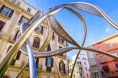 Màlaga im Stadtzentrum gelegen Stockbild