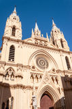 MÀLAGA - 21. JANUAR: Das Stadtzentrum am 21. Januar 2015 in Màlaga, Andalusien, Spanien Stockbild