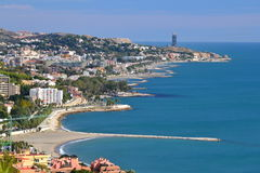 Màlaga-Küste Stockfoto