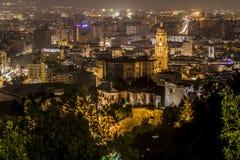Màlaga-Nacht Lizenzfreies Stockbild