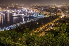 Màlaga-Nacht Stockbilder