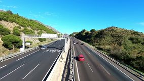 MÀLAGA, SPANIEN - 6. APRIL 2019: Autovia Del Mediteraneo durch Andalusien stock video footage