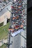 Màlaga (Spanien), am 14. April 2013: Demonstrationen gegen Monarchie im Jahrestag der Republik-II Stockbild