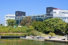 Màlaga, Spanien - Oktober 2012: Oracle-neues Gebäude Lizenzfreie Stockbilder