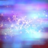 A mágica abstrata stars o fundo Imagens de Stock Royalty Free