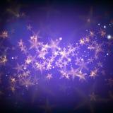 A mágica abstrata stars o fundo Fotografia de Stock Royalty Free