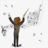 Mágica da música maestro ilustração do vetor