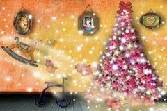 Mágica da noite de homens sábios e de Santa Imagem de Stock Royalty Free