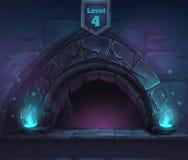 Mágica do arco em seguida no 4o nível ilustração do vetor