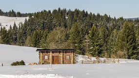 Mágica do inverno em Krahule Fotografia de Stock