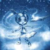A mágica dos livros ilustração royalty free