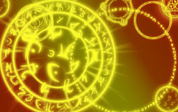 Mágica, fundo, sinais mágicos, místicos, sumário Fotografia de Stock Royalty Free