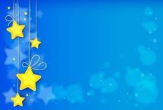 A mágica stars o fundo abstrato, fundo brilhante do efeito da luz Fotografia de Stock