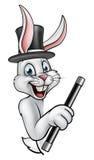 Mágico Pointing do coelho dos desenhos animados ilustração do vetor