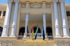 MÁLAGA, ANDALUCIA/SPAIN - 25 DE MAYO: Vista ayuntamiento en Mala Imagenes de archivo