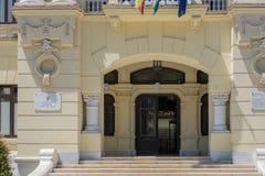 MÁLAGA, ANDALUCIA/SPAIN - 25 DE MAYO: Vista ayuntamiento en Mala Imagen de archivo