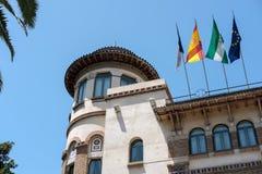 MÁLAGA, ANDALUCIA/SPAIN - 25 DE MAYO: Vista de la universidad del Mal Fotografía de archivo libre de regalías