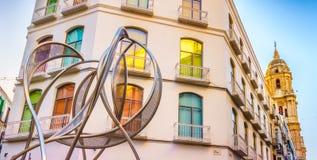 Málaga céntrica Foto de archivo libre de regalías