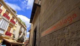 MÁLAGA - 15 DE ABRIL: Entrada de Pablo Picasso Museum en Malag Fotografía de archivo libre de regalías