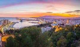 Málaga de las montañas Imagen de archivo