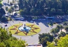 Málaga, España cuadrado imagen de archivo