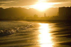 Málaga por noche imagen de archivo libre de regalías