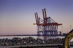 Málaga port Stock Photo