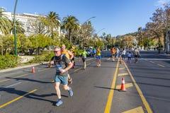 Malaga / Spain - December 15th, 2019: Zurich maratón málaga 2019