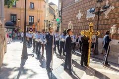 Málga religious event Stock Photos