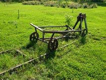 Máquina antigua del camino de carril Imagen de archivo libre de regalías