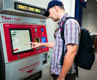 Máquina automática del boleto del metro Imagen de archivo