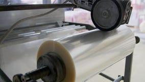 Máquina automática para empaquetar en la fábrica almacen de video