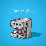 Máquina automática para o café Imagem de Stock Royalty Free
