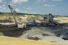 Máquina carbonosa - máquina escavadora da mina Foto de Stock Royalty Free