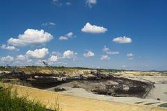 Máquina carbonosa - máquina escavadora da mina Fotos de Stock