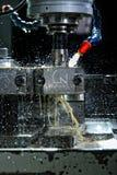 Máquina con el líquido refrigerador de la metalurgia imagen de archivo libre de regalías