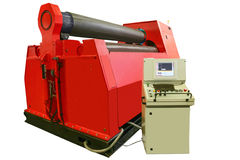 Máquina controlada por ordenador moderna potente para las hojas de metal de doblez Imágenes de archivo libres de regalías