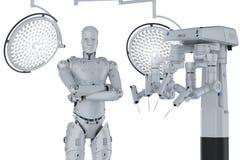 Máquina da cirurgia do robô Imagem de Stock