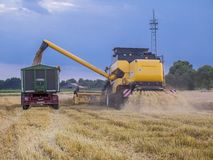A máquina da colheita fotos de stock royalty free
