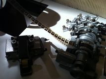 Máquina da edição do filme do vintage Imagem de Stock Royalty Free