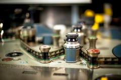 Máquina da edição para o detalhe de um filme de 35 milímetros Foto de Stock