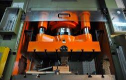 Máquina da imprensa do metal foto de stock