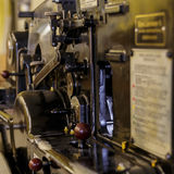Máquina da imprensa do vintage imagem de stock