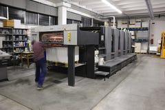 Máquina da litografia imagens de stock