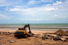 Máquina da máquina escavadora Foto de Stock Royalty Free